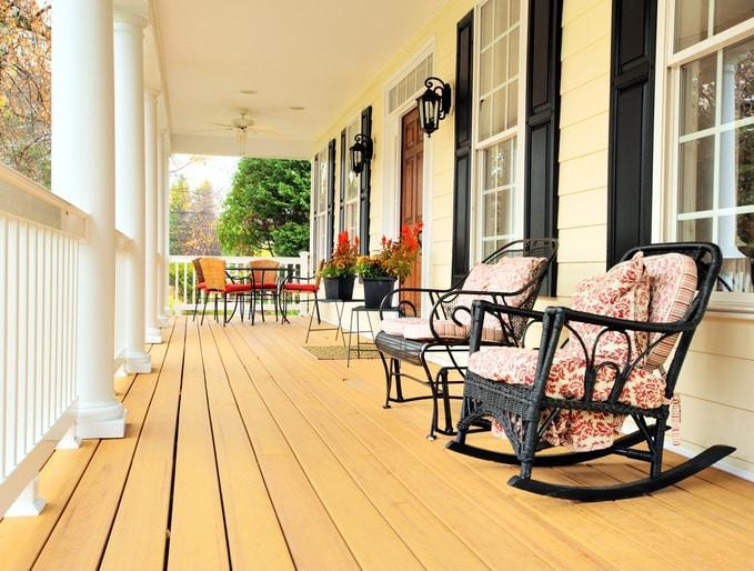 A nice shot of a finished Powhatan deck builder job
