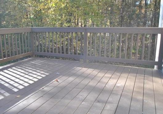 This new deck installation in Powhatan made our customer very happy - Smallwood Renovations