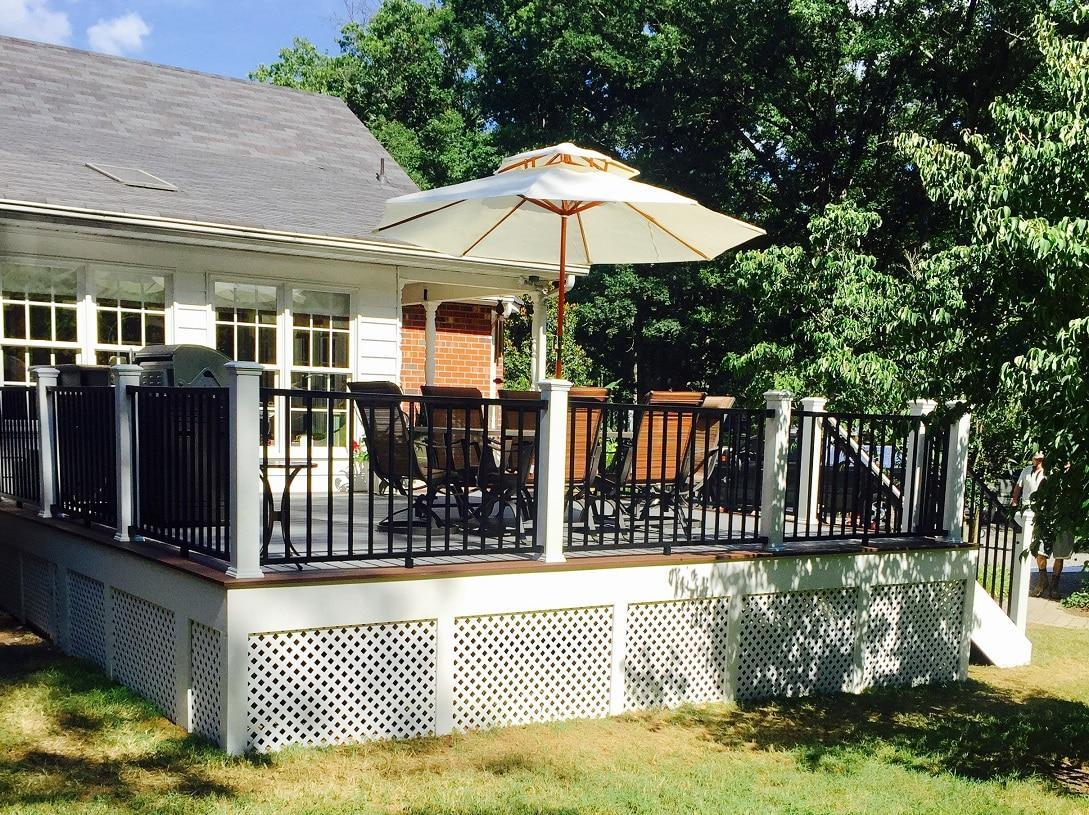 We were the qualified deck contractor in Glen Allen for this home