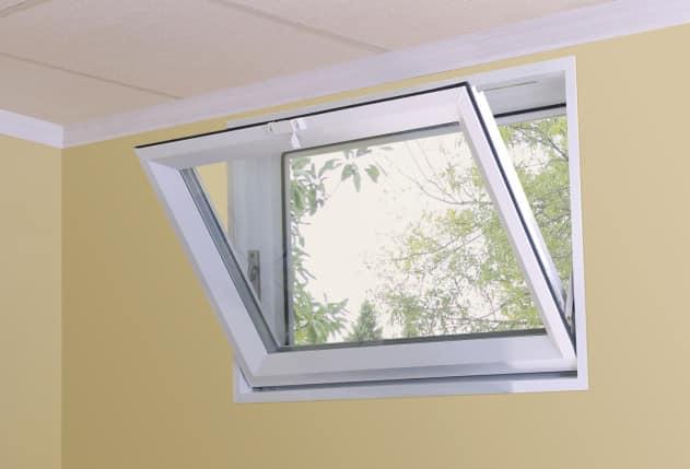 Open basement window