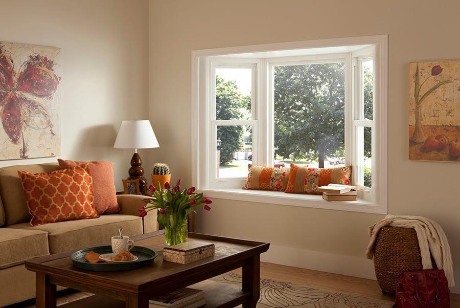 Bay windows in a home