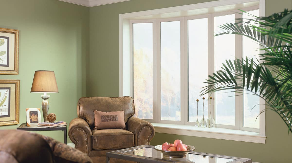 Bow windows in a home