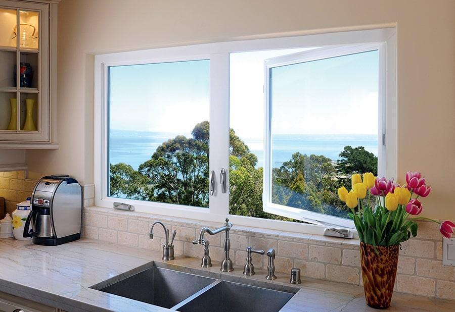 Casement windows in a home