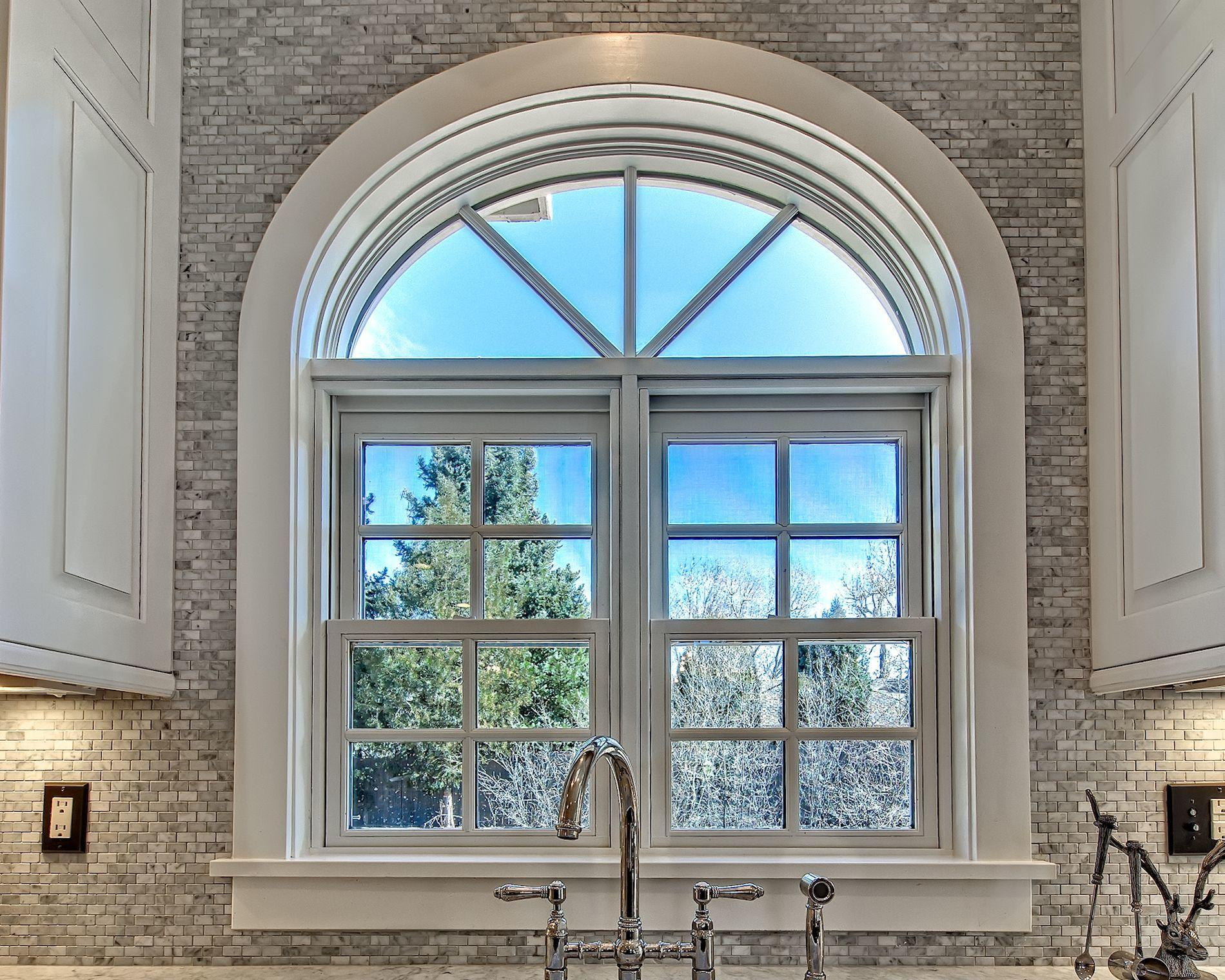 Geometric window in a kitchen