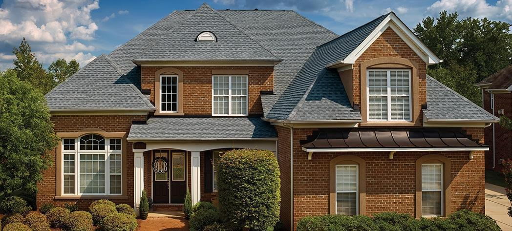 Home with architectural shingles