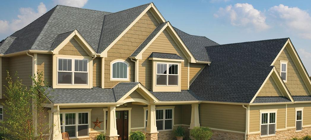 Roofing installation on a home