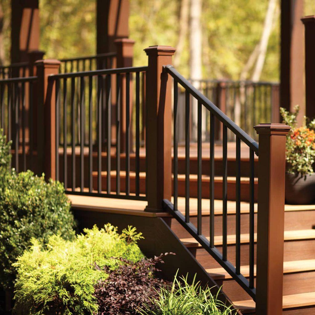 Railings on a deck