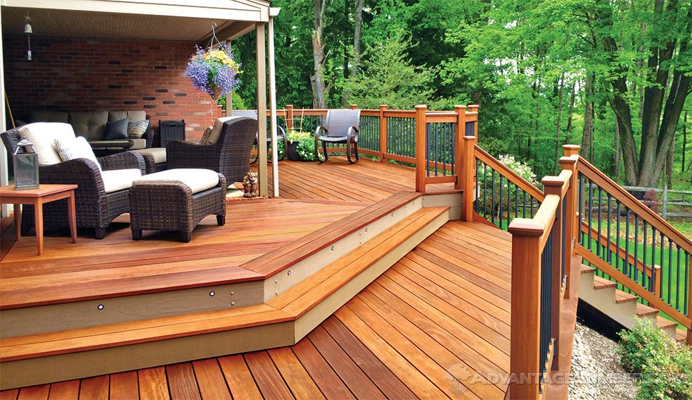 Deck made with wood